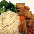 Taiwanese slow cooked sliced belly pork 爌肉飯