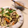 Stir fried bamboo shoots with sliced pork 竹筍炒肉絲