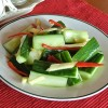 Cold cucumber mix 涼伴黃瓜, a Taiwanese starter or side dish