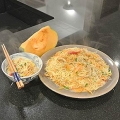 Stir fried pumpkin with rice noodles 金瓜炒米粉