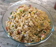 Bacon Fried Rice, ready