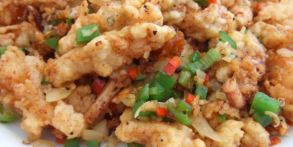 Salt & Pepper Squid, crispy but soft inside, a little spicy, delicious