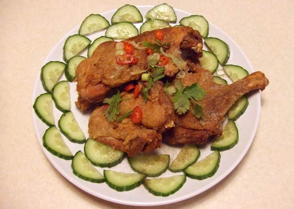 Taiwanese Crispy Chicken and Duck legs, ready to eat