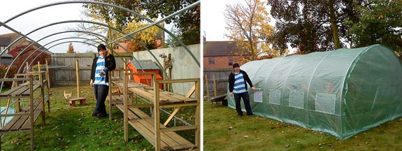 Constructing the greenhouse / polytunnel