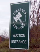 entrance to the auction