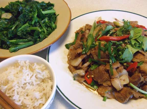 Twice cooked pork Taiwanese style
