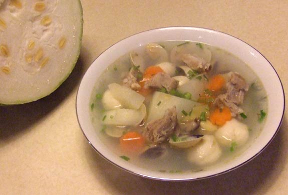 sharks fin melon soup with ribs