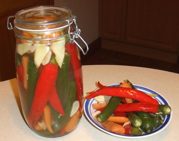 Sweet and sour chili pickles
