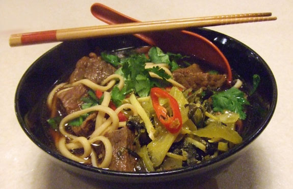 Taiwan beef noodles