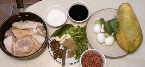 Taiwan Pig Knuckle ingredients