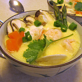 Savoury steamed egg