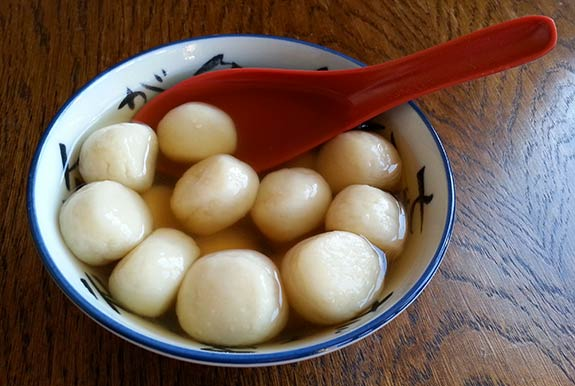 Tang yuen made with tofu