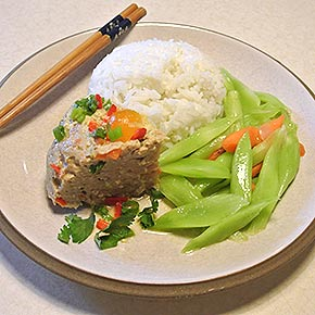 salty egg pork mince