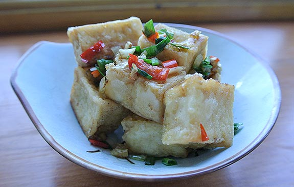 Salt and pepper tofu - ready to eat!